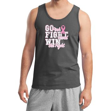Breast Cancer Tank Top Go Fight Win