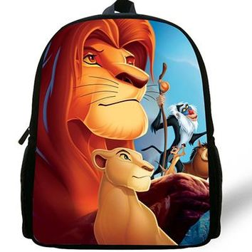 Boys Backpack Bag 12-inch Simba The Lion King  Kids Cartoon The Lion King School Bags Children Girls Preschool Baby Kindergarten Bag AT_61_4