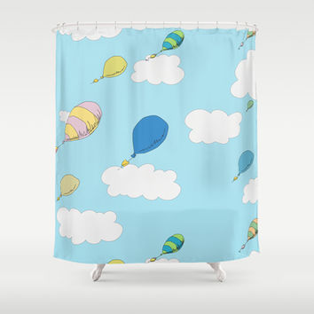 oh the places you'll go pattern...  Shower Curtain by Studiomarshallarts