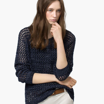 OPEN WORK SWEATER - View all - Sweaters & Cardigans - WOMEN - España (Excepto Canarias)/Spain (except the Canary Islands)