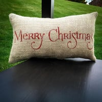 Christmas Pillow Decor Pillow Merry Christmas Christmas Pillow