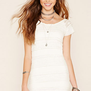 Ruffled Lace Sheath Dress