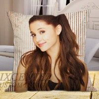 "Ariana Grande 4 on square pillow cover 16"" 18"" 20"""