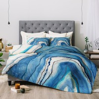 Viviana Gonzalez AGATE Inspired Watercolor Abstract 02 Comforter | Deny Designs