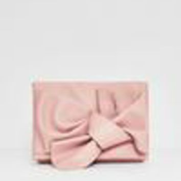 Missguided - Pink Bow Clutch Bag