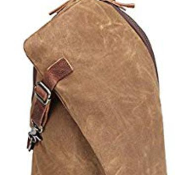 AOTIAN Men's Sling Backpack Waxed Canvas Crossbody Bag 10 Liters, Warranty 2-Years