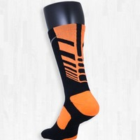 Black and Orange Nike Sequalizer Elite Socks | Rock 'Em Apparel