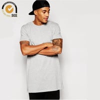 Super Longline T-Shirt with Relaxed Skater Fit Extended Tee Mens Longline Tops Loose T Shirt Basic Free Shipping