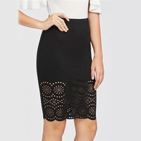 Women Sexy  Midi Elegant Summer Skirts  Work Skirt