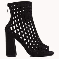 Bootie | Caged Booties | Chunky Heels - AKIRA