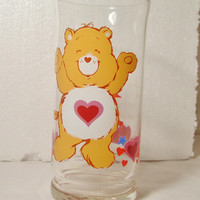 vtg 1983 Tenderheart Care Bear glass by Pizza Hut collectors Edition