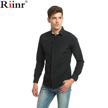 New Arrival Shirts High Quality Casual Solid Color Single Breasted Cotton Blends Long Sleeve