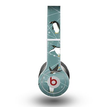 The Vintage Penguin Blue Collage Skin for the Beats by Dre Original Solo-Solo HD Headphones