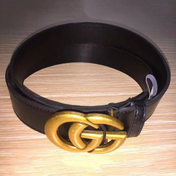 Boys & Men Gucci Smooth Buckle Belt Leather Belt
