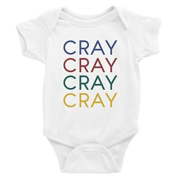 365 Printing Cray Funny Baby Bodysuit Gift For Baby Shower Cute Infant Jumpsuit