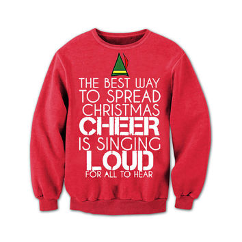 Buddy The Elf Sweater. Buddy The Elf. Ugly Sweater Contest. Ugly Christmas Sweater. Christmas Vacation. Cotton headed ninny muggins.