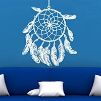 Wall Decal Vinyl Sticker Decals Art Decor Design Dreamcather Dream Cather Symbol Feathers Bedroom Dorm Office Good Night Tattoo(r1087)