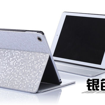 Fashion For Ipad Mini 1/2/3 Diamond Pattern Flip Leather Case Cover Glitter Simple Smart Stand Leather Case