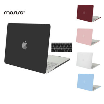 MOSISO Crystal Matte Hard Cover Case for Apple Macbook Pro 13 Touch Bar For Mac book Pro 15 A1707 Laptop Shell+Keyboard Cover