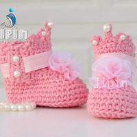 noble  princess booties princess shoes baby girl shoes baby booties sweet shoes noble shoes