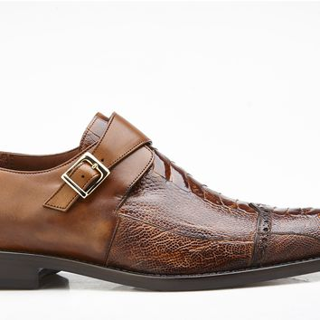 "Belvedere ""Salinas"" Ostrich And Italian Calf Dress Shoe"