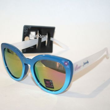Licensed cool Disney Lilo & Stitch Blue Purple Gradient Lens Cat Eye Sunglasses Ohana Family