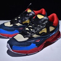 [ Free Shipping]Raf Simons x adidas Consortium Ozweego 2Pearl Gray / Dark blue / Red Sneakers