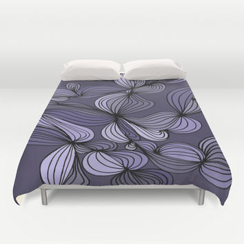 Vintage (purple) Duvet Cover by DuckyB (Brandi)