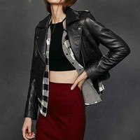 Silence + Noise Tough Leather Moto Jacket