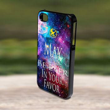 Accessories Print Hard Case for iPhone 4/4s, 5, 5s, 5c, Samsung S3, and S4 - The Hunger Games Quote Galaxy Nebula