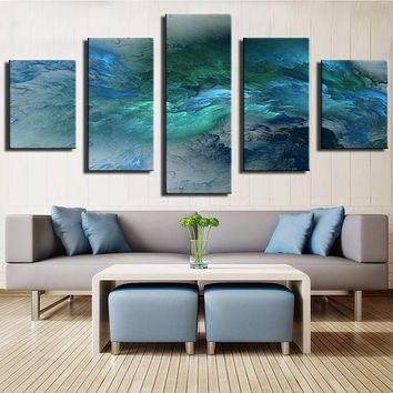 Cuadros Decoracion Fallout No Frame 5 Piece Clouds Modern