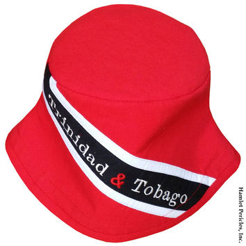 Trinidad and Tobago Flag Bucket Hat  d4492555f96