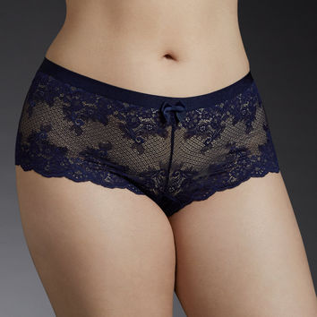 Lace Ribbon Trim Cheeky Panty