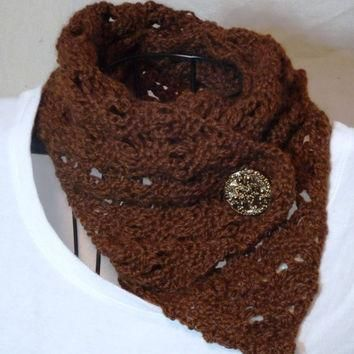 Alpaca Wool Hand Crochet Pandora Scarf by thestringlady on Etsy