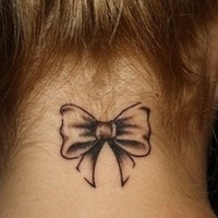 Bow Temporary Tattoo
