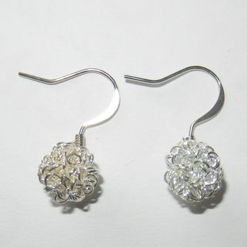 Dandelion Wish Silver Earrings