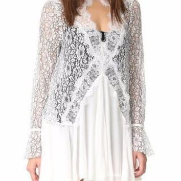 Lace Boho Mini Dress