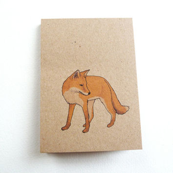 fox notebook (100% recycled)