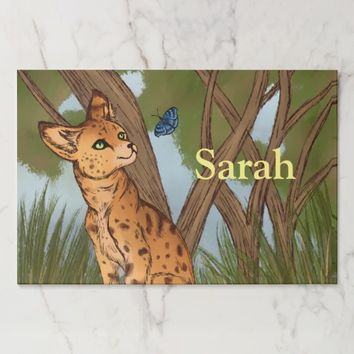 The Serval and the Butterfly Paper Placemat