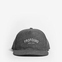 Profound Classic New York History Snapback in Wool Charcoal