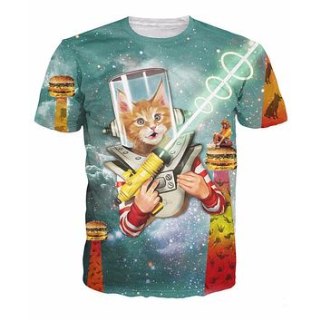 Space Kittens and Burgers T-Shirt