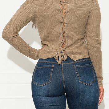 Once In A While Sweater Taupe