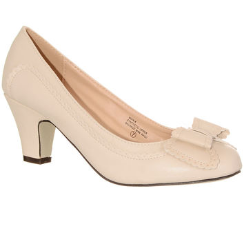 My Vintage Darling Day Heels in Cream