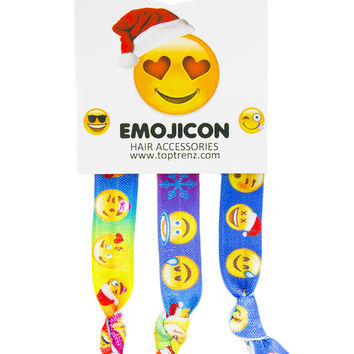 EMOJI HAIR TIES