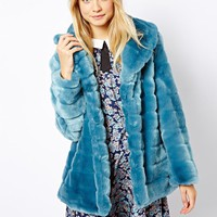 ASOS Faux Fur Pelted Coat
