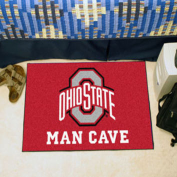 "Ohio State University  Man Cave Tailgater Rug 60""x72"""