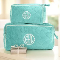 Quilted Velvet Beauty Cases – Pool