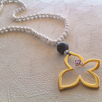 long necklace handmade , semi precious beads , gold plated 24 carats , swarovski , gifts , women's jewelry , necklace , necklaces