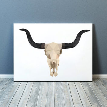 Anatomy print Bull skull poster Colorful decor Modern art TOA88