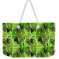 Tropical Jungle Greens Weekender Tote Bag for Sale by Gravityx9 Designs